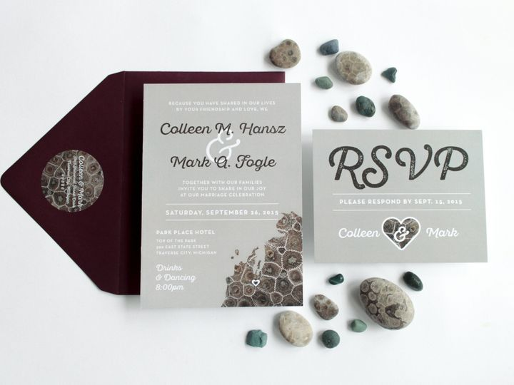 Tmx 1446656686708 Colleenmark 4089 Traverse City, Michigan wedding invitation