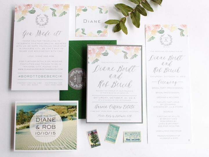 Tmx 1446656761867 Dianerob 3895 Traverse City, Michigan wedding invitation