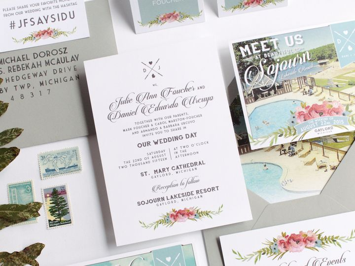 Tmx 1446656878296 Juliedani 3969 Traverse City, Michigan wedding invitation