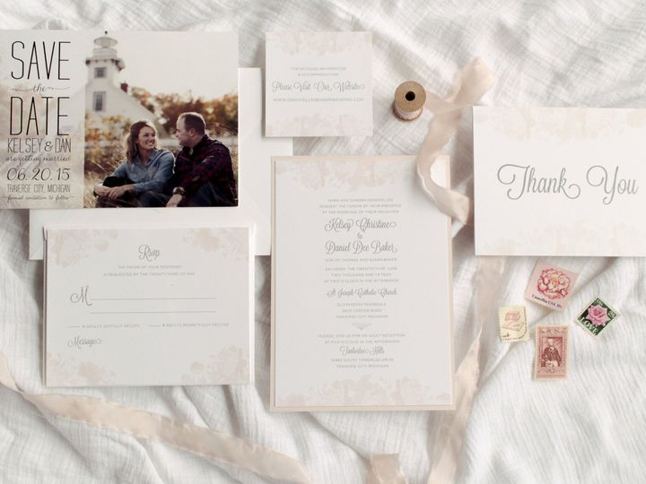 Tmx 1446656914259 Kelseydan 4102 Traverse City, Michigan wedding invitation