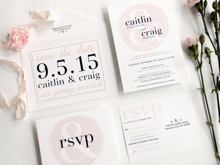 Tmx 1446657092737 Caitcraig 3 Of 9 Traverse City, Michigan wedding invitation