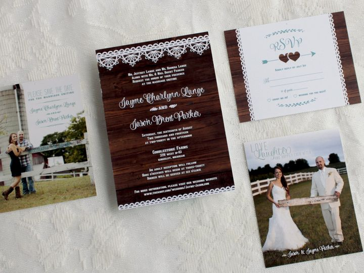 Tmx 1446657771407 Jaymejason 5 Of 10 Traverse City, Michigan wedding invitation