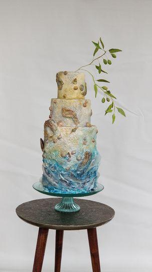 Ocean Treasures Wedding Cake