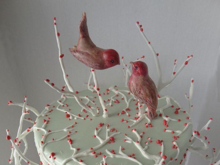 Tmx 1454113138166 Love Birds Top View  Winter Wedding Cake Havertown wedding cake
