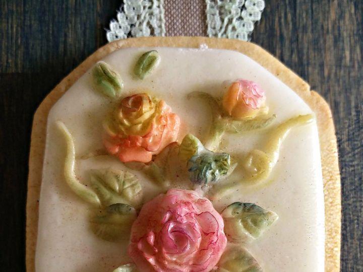 Tmx 1507429378517 La Linea  Flower Cookie Havertown wedding cake