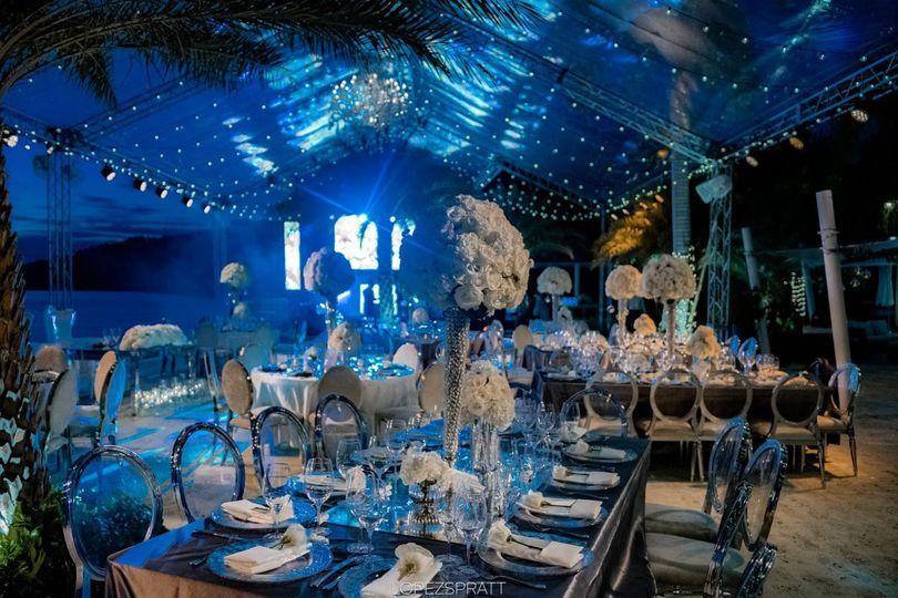Blue theme reception
