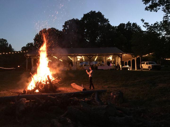 Pavilion with bonfire