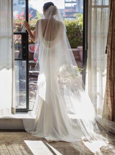 Bride by the door