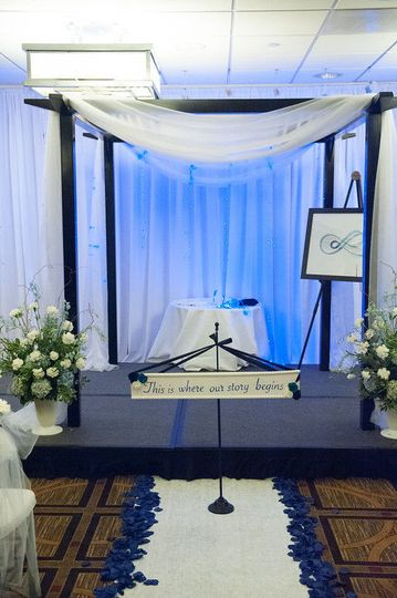 Sample wedding altar