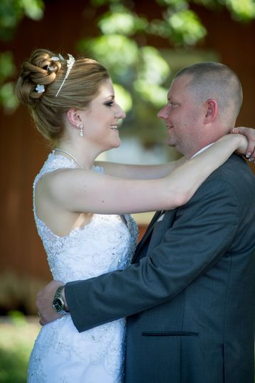 Couple slow dancing