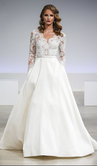 Lace top ball gown