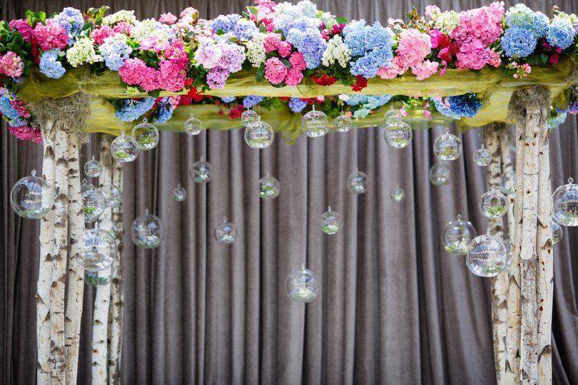 The floral altar