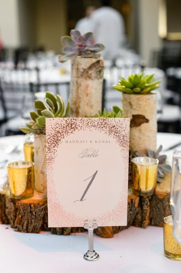Table number notice