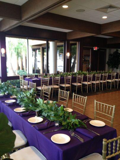 Purple table setup