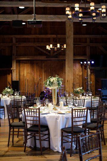 Wells Barn tables