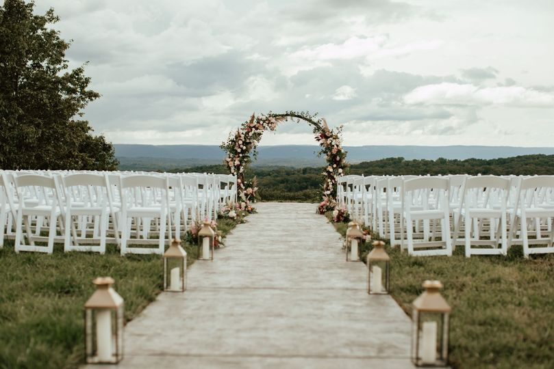 Ceremony mountain view