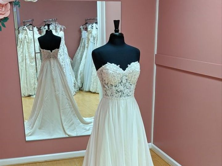 Tmx Strapless Beaded Illusion Bodice Soft Chiffon Skirt Heart To Heart Bride Private Collection Rochester Ny 51 55560 157549810418194 Webster, NY wedding dress