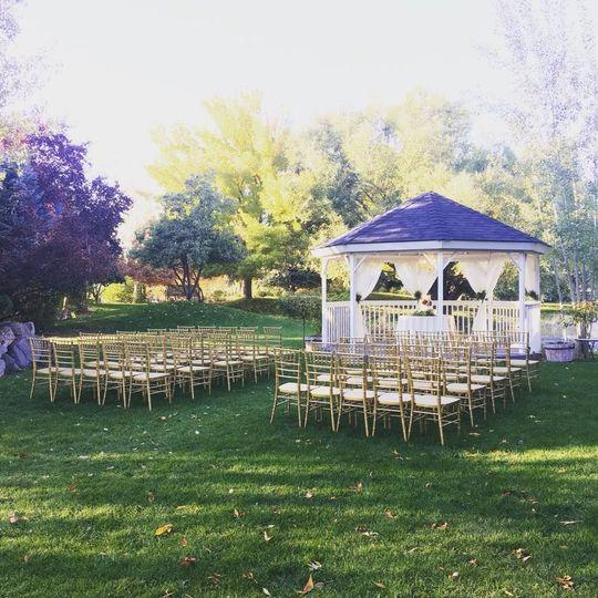 Wedding setup outdoors
