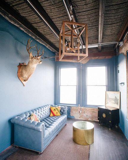 Fresh blue design