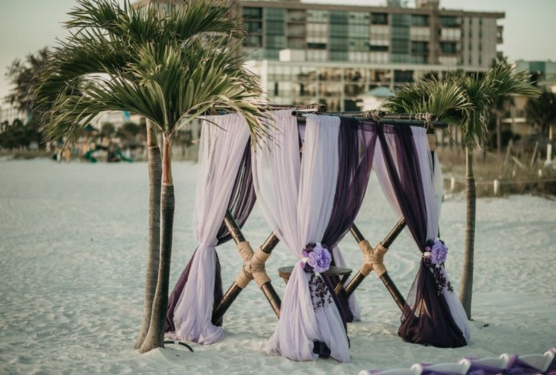 Draping for Beach Ceremony