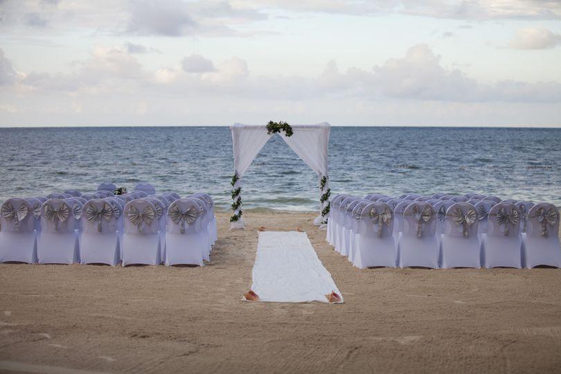 Beachfront wedding space
