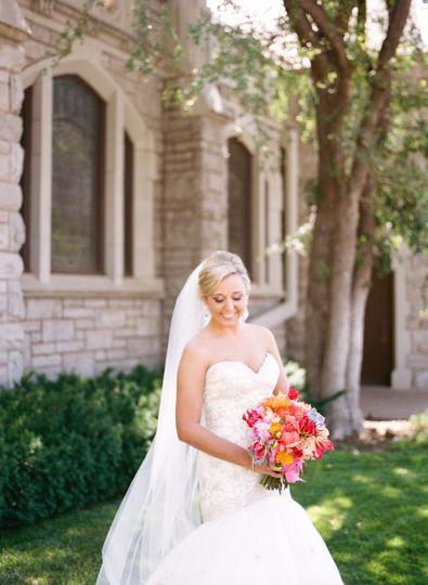 Bright colorful bridal bouquet