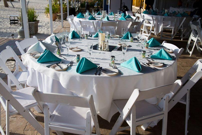 White round table setup