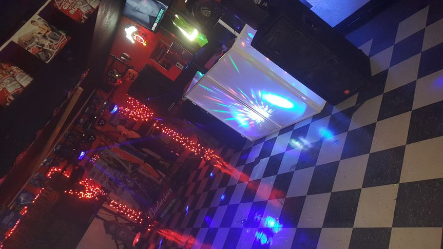 Dance floor and booth