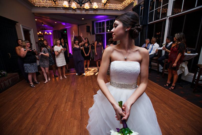 The bride will throw the bouquet
