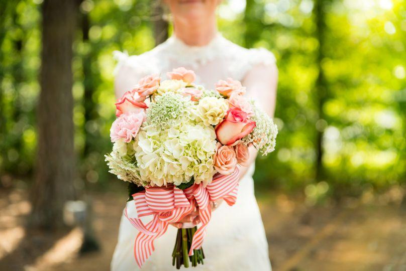 Bride, bouquet