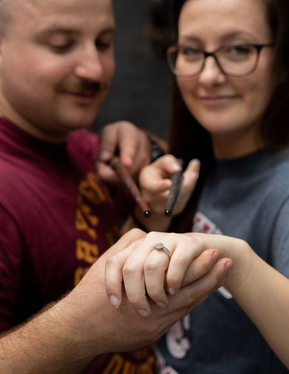 A themed proposal - The Tattooed Bride Photography