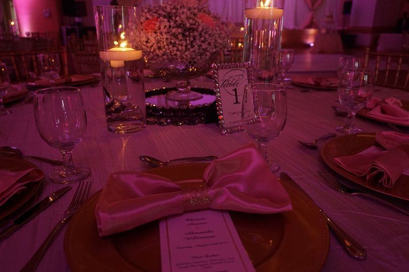 Table setting and candle lights