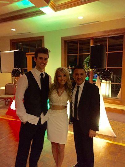 Bride & groom showing Central Arkansas Entertainment DJ Mario Luna some love!