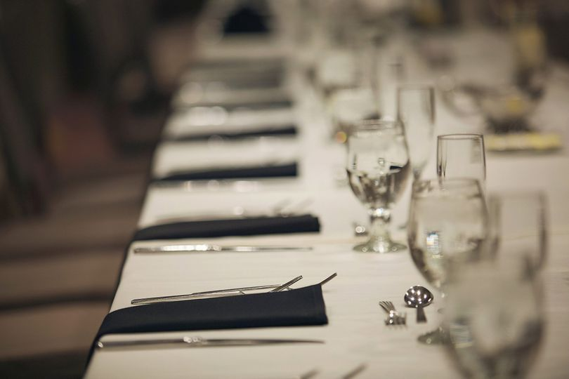 Long table close up