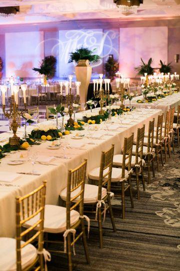 Elegant reception tables