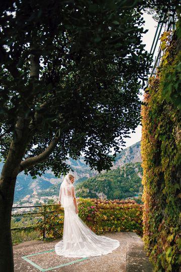 Bridal portrait in Italy. Florida wedding photographer