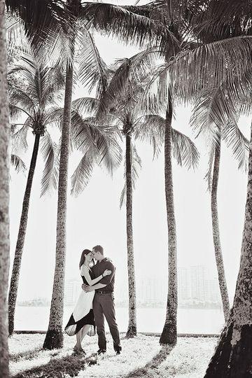 Couple in Palm Beach. Florida wedding photographer