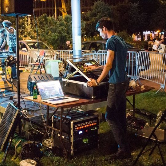 Sound Engineer on his station