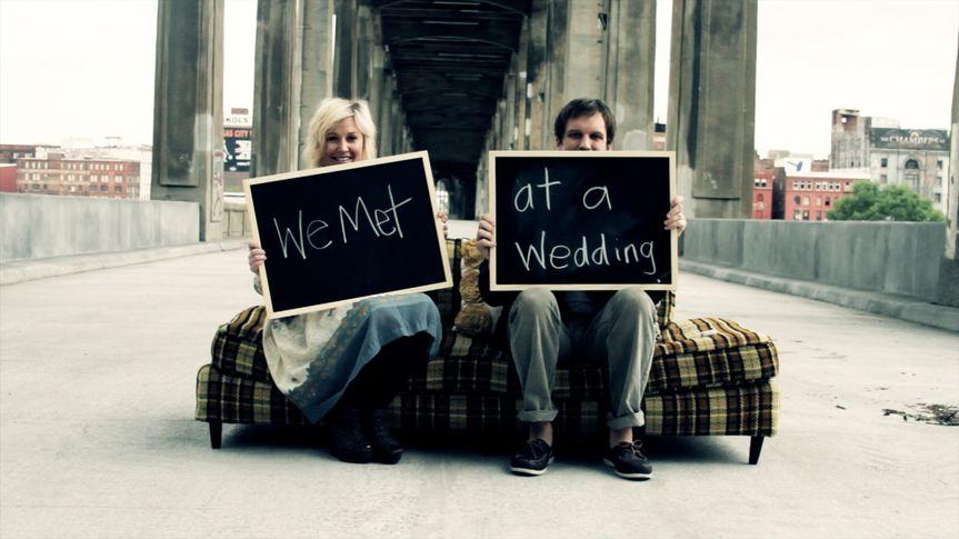 we met at a wedding