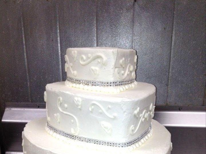 Tmx 1393899579887 Rhinestone Heart West Berlin, New Jersey wedding cake