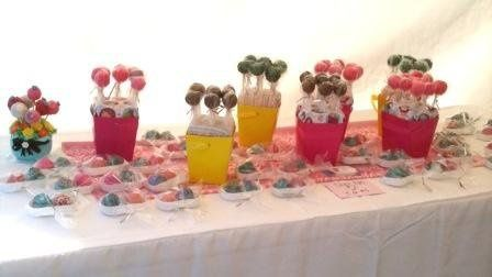 Cake Pops Centerpeices with Favors