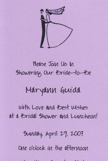 top half of long bridal shower invite sparkle accent on veil