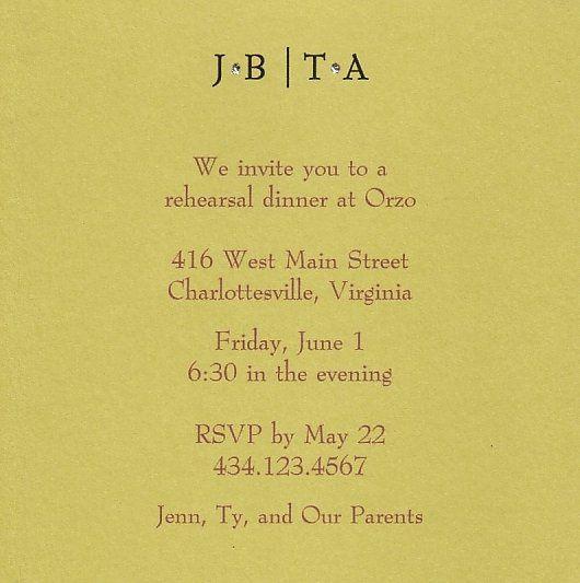 chartreuse rehearsal dinner invites
