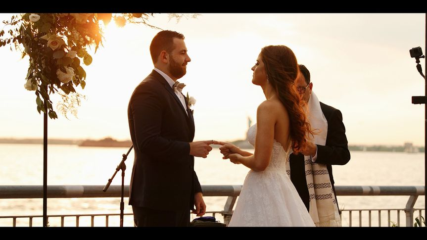 Stunning Sunset Wedding Moment