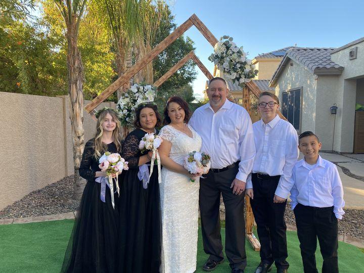 Backyard Family Wedding
