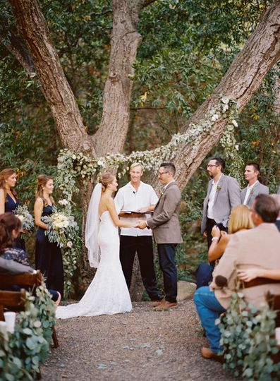 One ceremony site option at the ranch