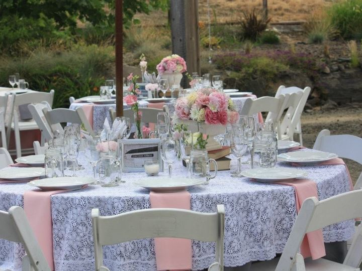 Tmx 1370285550249 Lace And Pink Table Setting Milpitas wedding rental