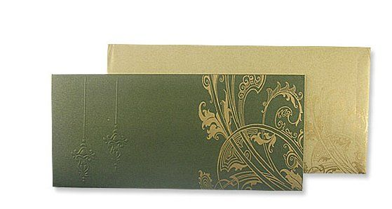 Always And Forever Green And Gold  Designed with elegance in mind. Printed on metallic green card...