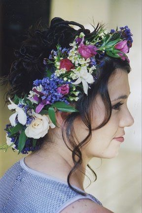 Haku head lei's are perfect complement to the brides wedding dress with the veil optional and the...