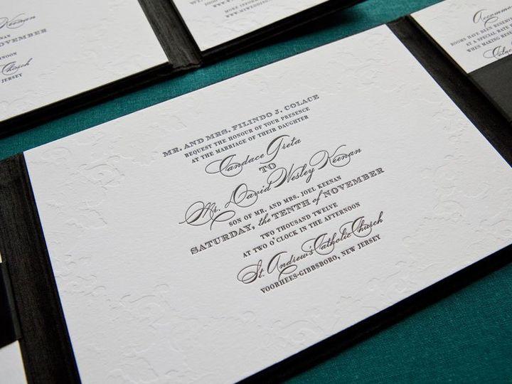 Tmx 1352213695465 CANDACE1 Thorofare wedding invitation